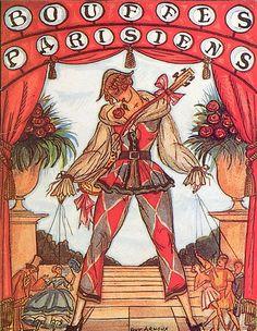 Guy Arnoux 1933 Theater Bouffes Parisiens, Albert Willemetz, Phi-Phi, Catalogue 20 Pages Empire Music, Pierrot, Original Vintage, Guy, Graphic Design Art, Marie Antoinette, Hairdresser, Wigs, Prints
