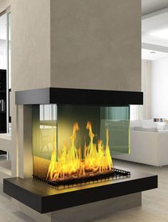Awesome Firplace! Modern. From sleek glass designs, or trendy double-sided structures, modern fireplaces offer several different looks to help accommodate your personal preference. Not only do these contemporary fireplaces offer warmth and comfort, but they also offer lots of style. In fact, having a modern fireplace in your living room can help transform the whole space.
