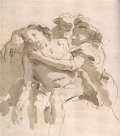 """Ink Drawing The Deposition,"""" by Giovanni Battista Tiepolo Life Drawing, Drawing Sketches, Art Drawings, Manga Drawing, Figure Painting, Figure Drawing, Painting & Drawing, Grafik Art, Art Postal"""