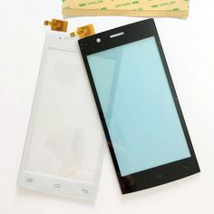 1PCS Black/White Touchscreen For Fly FS451 Nimbus 1 FS 451 Touch Screen Front Glass Panel Repair Part +3M sticker