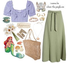 modern ariel 🐚 Outfit | ShopLook Beach Day Outfits, European Summer, Modern Disney, Outfit Maker, Ariel, Mood Boards, High School, Fashion Looks, Boho