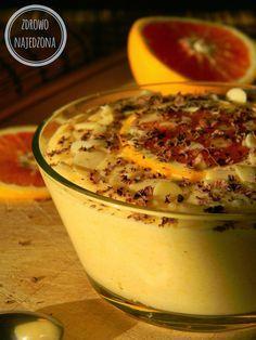czyli o tym, że zdrowe jedzenie nie musi być nudne :): Pomarańczowy krem jaglany Healthy Drinks, Healthy Recipes, Healthy Food, Polish Recipes, Breakfast Dessert, Sweet And Salty, Deserts, Sweets, Pudding