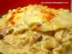 Bacon, Butter, Cheese & Garlic: Going Cajun : Cajun Chicken Alfredo Lasagna