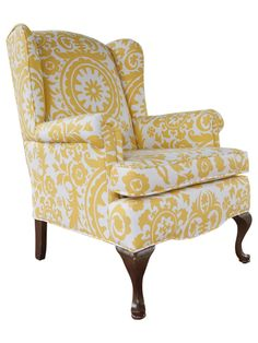 Wingback chair - Restoration. I want something like this for my foyer.