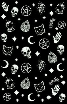 Witch pattern art print by medusa dollmaker. witch pattern art print by medusa dollmaker skull wallpaper iphone, hipster Witch Wallpaper, Emo Wallpaper, Hipster Phone Wallpaper, Gothic Wallpaper, Pattern Wallpaper, Wallpaper Backgrounds, Emo Backgrounds, Trendy Wallpaper, Tumblr Patterns Backgrounds