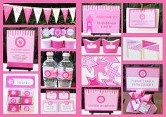 pink princess invitation & printable birthday party collection