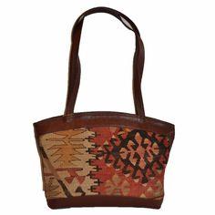 "Turkish Vintage Kilim Bag-b:50 B:50 Size: W: 17"" H: 10"" D: 5"" Drop Length: 14""-Design# 335, Size- - [1]  #accessories #fashion #womenfashion #outfit #handmade #handbag #bag #purse"