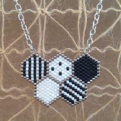 Pendentif avec chaîne peyote en perles MIYUKI