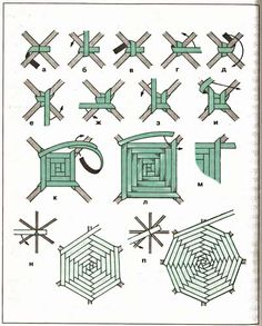 Ideas For Basket Weaving Diy Newspaper Paper Weaving, Weaving Textiles, Weaving Art, Loom Weaving, Flax Weaving, Straw Weaving, God's Eye Craft, Basket Weaving Patterns, Lace Patterns