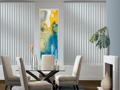 Hunter Douglas Somner Custom Vertical Blinds are a classic window coverings solution with numerous design options to complement any dcor from traditional to contemporary. For help choosing the perfect Hunter Douglas, Blinds For You, Blinds For Windows, Bay Windows, Window Blinds, Window Coverings, Window Treatments, Classic Window, Sliding Panels