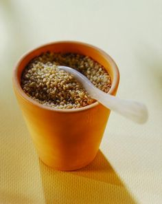 To lower cholesterol, grind up flaxseed and add to cereal, salads, and other foods.