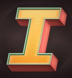Letter I -  typographic concepts by  Mario de Meyer, Belgian designer