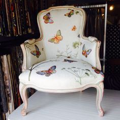How To: Upholstering A [french] Chair The Weathered Door. Upholstery Basics: Picture Perfect Backs - Design*Sponge. How To Reupholster A Wingback Chair DIY Project Aholic. Home and Family Funky Furniture, Furniture Makeover, Plywood Furniture, Cheap Furniture, Summer Deco, Love Chair, Cool Chairs, Pink Chairs, White Chairs
