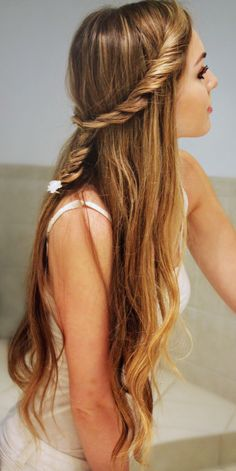 Fluffy Twist into Fishtail Braid! Back To School Hairstyle