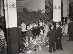 Vintage 1948, crowds file past Babe Ruth's casket in Yankee Stadium, NYC, www.RevWill.com