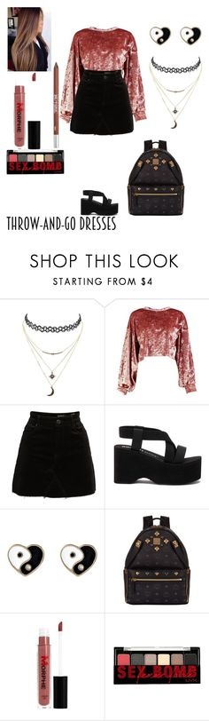 """""""Late for class"""" by smithsamia ❤ liked on Polyvore featuring Charlotte Russe, Boohoo, BLANKNYC, Accessorize, MCM, Morphe, NYX and Urban Decay"""