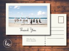 Thank You Vintage Wedding Postcard ~ DIY PRINTABLE ~ Professional Printing with envelopes and postage included