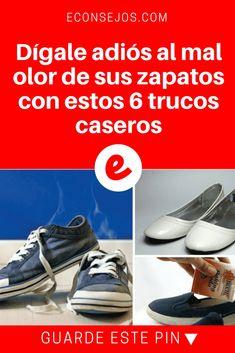 Mal olor zapatos   Dígale adiós al mal olor de sus zapatos con estos 6 trucos caseros   Es algo por lo que todos hemos pasado. El mal olor de los zapatos suele ser un problema derivado de una higiene deficiente de los pies, pero también puede aparecer por otros factores. ¡Te contamos cómo eliminarlo!