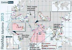 mapa riesgo maritimo