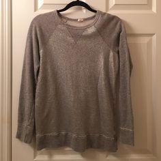 J Crew gray and silver sweatshirt J Crew gray and silver sweatshirt J. Crew Tops Sweatshirts & Hoodies