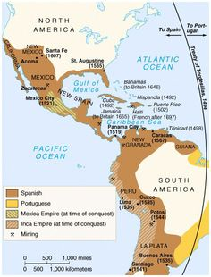 map of spanish empire 1500's - Google Search