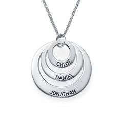 Jewelry for Moms - Three Disc Necklace   MyNameNecklace