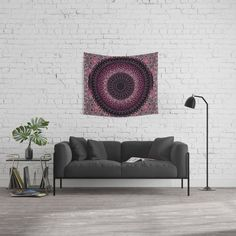 Rosewater Tapestry Mandala Wall Tapestry Mandala Tapestry, Wall Tapestries, Mandala Design, Wall Design, Red Gold, Deep, Throw Pillows, Black And White, Furniture