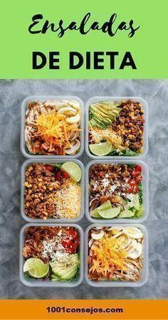 4 Ensaladas para bajar de peso These 4 salads will help you lose weight quickly Menu Fitness, Vegan Recipes, Cooking Recipes, Ketogenic Recipes, Diet Recipes, Deli Food, Keto Diet For Beginners, Diet Menu, Meal Prep