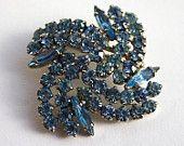 Silver Blue Teardrops by Julia