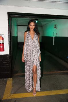Chanel Iman at the Baja East afterparty at New York Fashion Week.