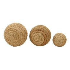 Shop for Jute Ball Set of 3 4-inch/ 7-inch/ 8-inch Deep Accent Piece . Free Shipping on orders over $45 at Overstock.com - Your Online Home Decor Outlet Store! Get 5% in rewards with Club O!
