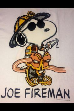 Snoopy as Joe Fireman Snoopy Love, Snoopy And Woodstock, Peanuts Cartoon, Peanuts Snoopy, Sirens, Snoopy Quotes, Joe Cool, Peppermint Patties, Charlie Brown And Snoopy