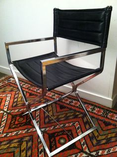 Mid Century Mod Chrome Director's Chair by MarzMum on Etsy, $199.00