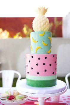 Tutti Frutti Cake from a Tutti Frutti Valentine's Day Party on Kara's Party Ideas | KarasPartyIdeas.com (22)