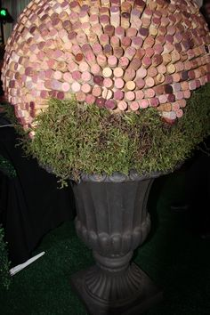 A custom cork topiary was made in house for the foyer of the venue and was so popular with guests that it was auction off for $500 to the charity!