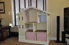 Ana White | Build a Modern Dollhouse Bookshelf | Free and Easy DIY Project and Furniture Plans