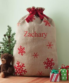 Another great find on #zulily! Personalized Burlap Santa Sack #zulilyfinds