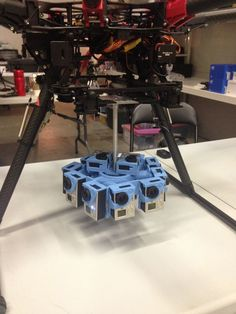 Drone with multi-GoPro rig setup to film for Oculus Rift [ store.helivideopros.com] #drone #oculus #rift