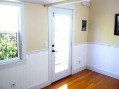 Nice clean interior white wainscoting.