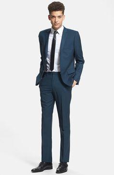 ASOS Slim Fit Suit in Navy Poplin | Suits | Pinterest | ASOS