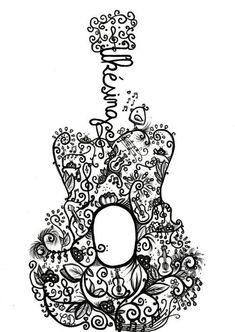 Ukulele art uh oh another tattoo? Ukulele Tattoo, Ukulele Drawing, Ukulele Art, Cool Ukulele, Ukelele, Guitar Art, Music Doodle, Doodle Art, Ukulele Fingerpicking Songs