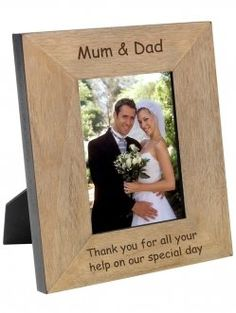 Personalised 'Mum & Dad' Wooden Photo Frame 7 x 5