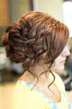 Braided Updo Hairstyle for Bangs