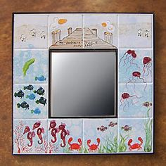 If an Elephant Can Paint... paint-your-own pottery studio Under the sea; finger-print fish; tile projects