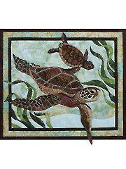 Applique Wall Quilt Patterns - Sea Turtles Quilt Pattern