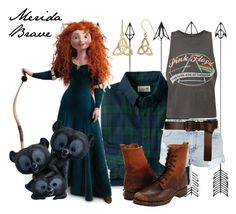 """""""Merida"""" by allendrea on Polyvore featuring L.L.Bean, Floyd, Topshop, Frye, Barbara Bui and Fremada"""