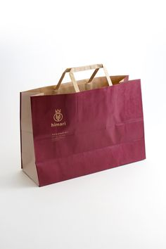 Flat Handle Kraft Bag with one color ink coverage on two sides. Very cool look. Paper Packaging, Custom Packaging, Packaging Design, Branding Design, Shopping Bag Design, Paper Shopping Bag, Paper Carrier Bags, Paper Bags, Shoping Bag