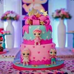 Suggestions to be Inspired for 1 Age Girl's Cake Selection! – Party And Me Doll Birthday Cake, Funny Birthday Cakes, 6th Birthday Parties, 7th Birthday, Birthday Ideas, Festa Baby Alive, Lol Doll Cake, Rodjendanske Torte, Surprise Cake
