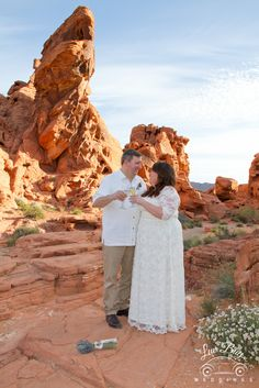 Congrats Tara & Greg! #luvbugweddings #valleyoffirewedding #lasvegasweddingphotographer #desertwedding