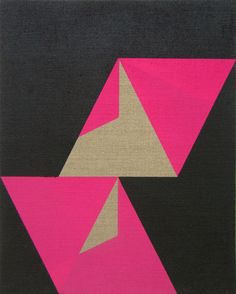Jonathan Runcio, Untitled, 2009  Spray paint on linen, 15 x 12 inches #art #fuchsia #graphic